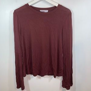 Double Zero S Long Flare Sleeve Top